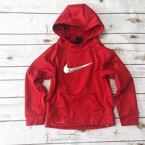NIKE Dri-Fit Red Hooded Sweatshirt